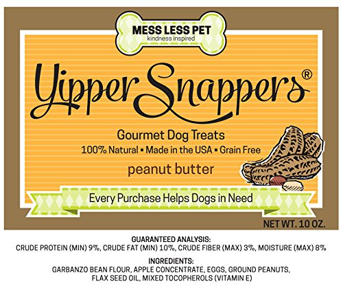 Yipper Snappers Peanut Butter Hypoallergenic Dog Treats