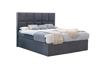 Betten Jumbo Dream Boxspringbett 180x200 Cm Grau Anthrazit Mit Luxus  7 Zonen Taschenfederkernmatratze Und