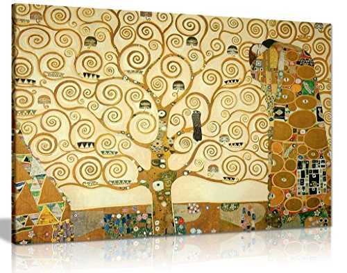 Gustav Klimt The Tree Of Life Canvas Wall Art Picture Print (30x20in)