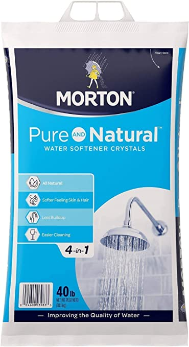 Easygoproducts Morton 40f Morton Pure Natural 4 In 1 Crystals Soft Water Softener Salt 40 Pounds White Amazon Com