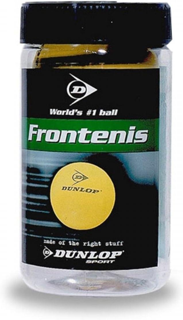 Dunlop 0503054 Pelota de Frontenis en Bote, Unisex Adulto, Amarillo, 2 Unidades
