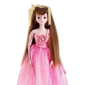 stfantasy peluca muñeca American Girl Barbie bebé BJD SD largo recto lolita harajuku pelo sintético resistente