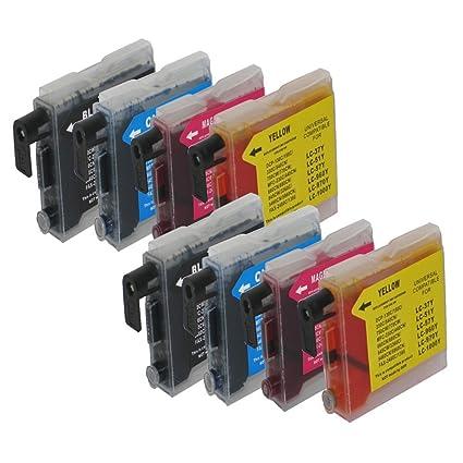 8 Cartuchos de Tinta para Impresora Brother DCP 130 C, DCP 330 C ...