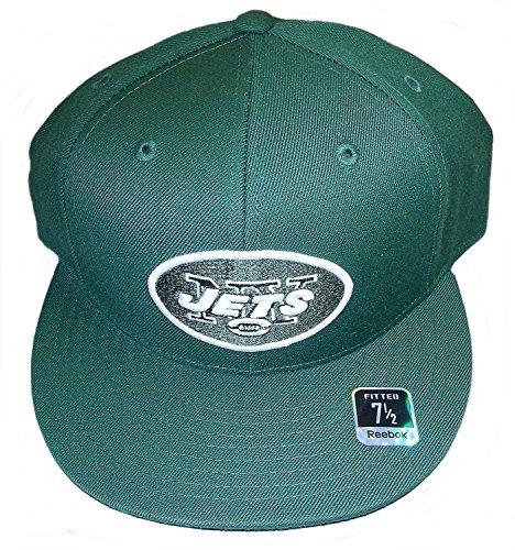 11e879dbf New York Jets Flat Bill Hats. Reebok New York Jets Fitted Flat Brim Hat  Size 7 ...
