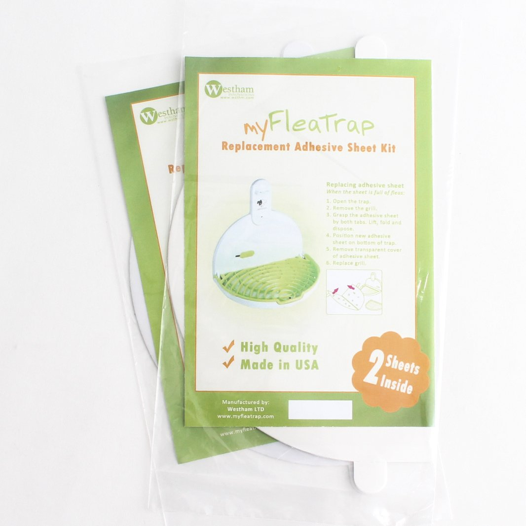 myFleaTrap Replacement Adhesive Sheet - 2 Kits (4 Sheets) - For Our Ecological Flea Trap