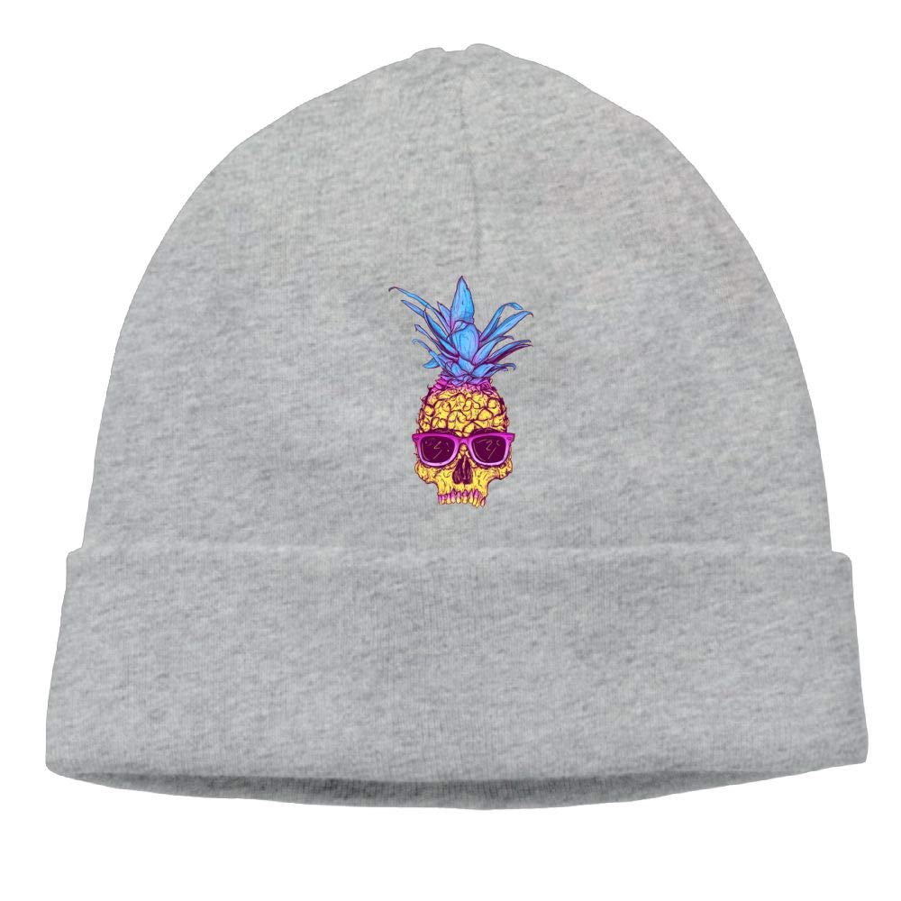 Aiw Wfdnn Beanie Hat Pineapple Glasses Cotton Knit Cap for Male