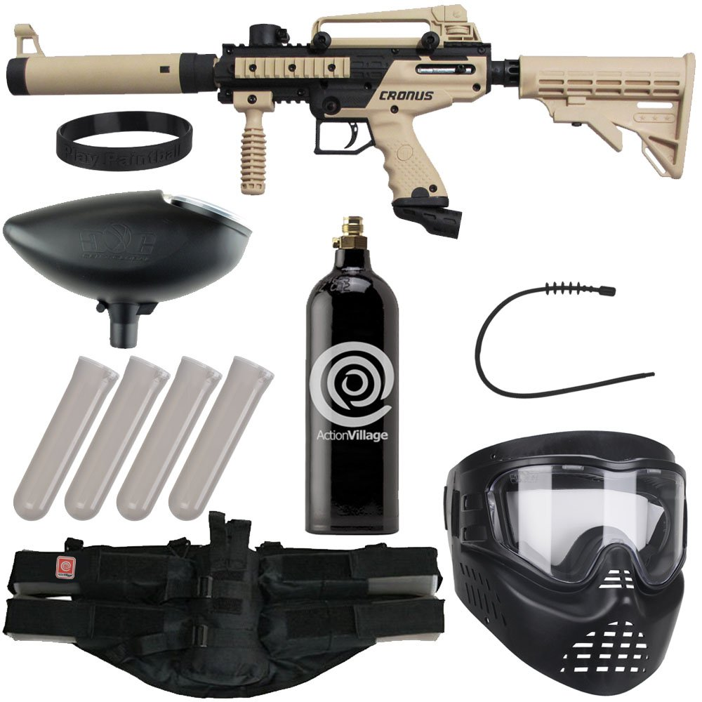 Action Village Tippmann Epic Paintball Gun Package Kit (Cronus) (Tan Tactical Edition) by Action Village