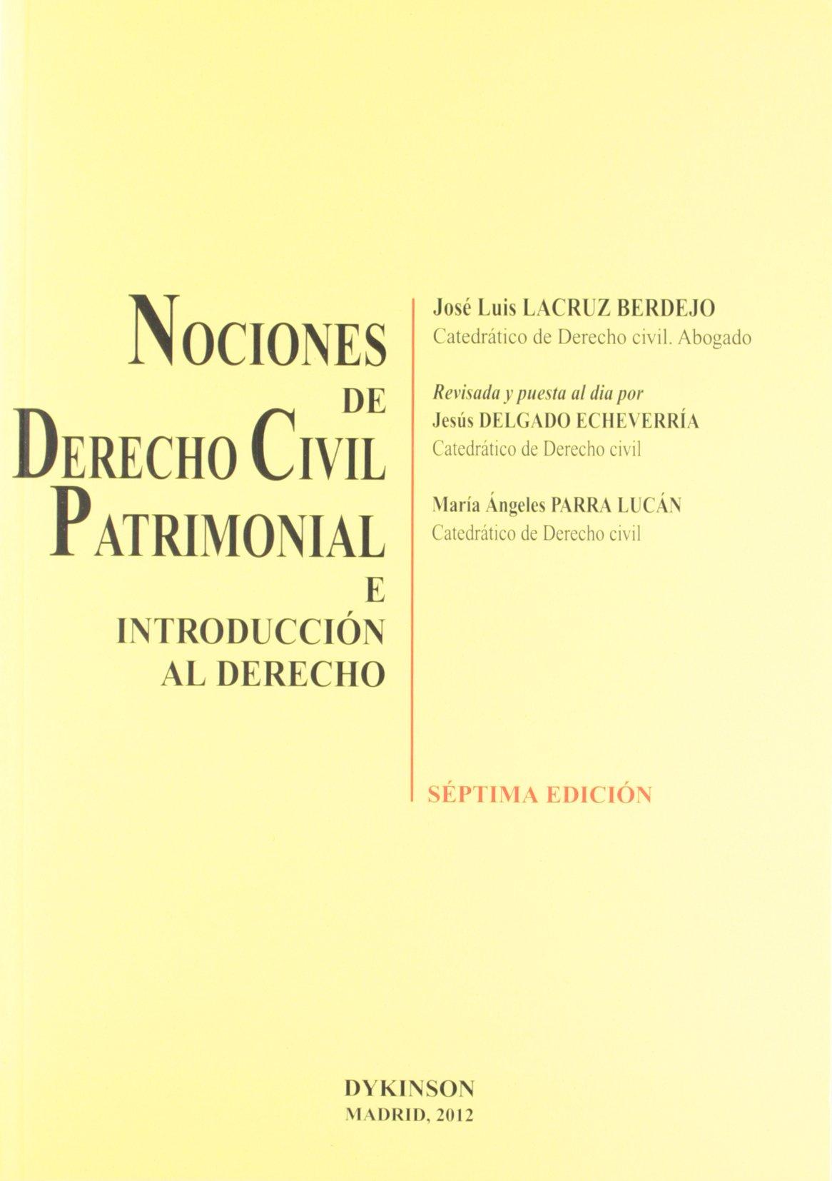Nociones de Derecho Civil Patrimonial e introducción al derecho ...