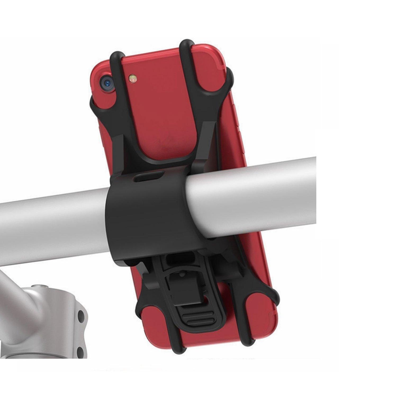 fengusユニバーサルバイク電話マウント、自転車ハンドルバーオートバイ電話ホルダーfor iPhone X/8plus/8 /7plus/7 /6s、Galaxy s9 /s9 +、s8 +/s8 /s7 /s6、すべての4 – 6インチスマートフォン(ブラック)   B07CZ4H39V