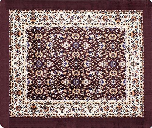 Tapete Floral Orient Shantou JolitexVinho 100x140cm