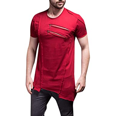 Btruely Camisas Casual Hombre Moda Camiseta Hombre de Verano ...