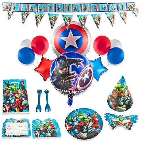 Superhero Party Supplies for 15 Superhero Guests with