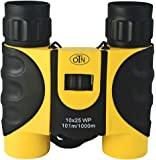 OutNowTech Ultra Compact Folding Binoculars - 10x25 - Ideal For Adults Kids Hiking Camping And Outdoor Events - Robust Rubberised Casing - Neck Strap - Carry Case With Belt Loop