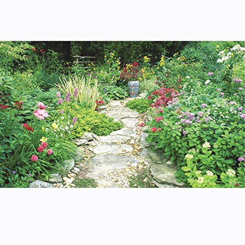 Biggies- Window Well Scenes Wall Art- Garden, 60'' x 100''