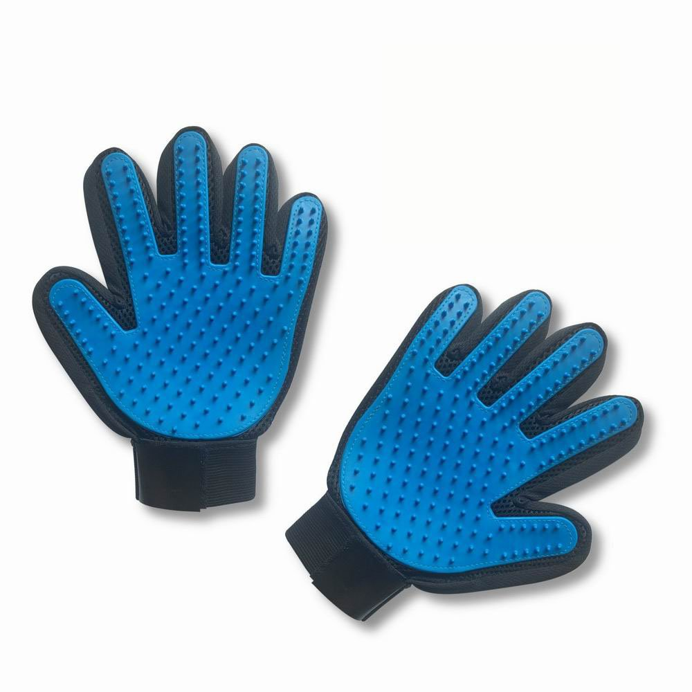 R&T Elite Pet Grooming Glove - Gentle Deshedding Brush Gloves - Pet Hair Remover Gloves - Pet Massage Glove Perfect for Dogs,Cats,Horses [ Left & Right]