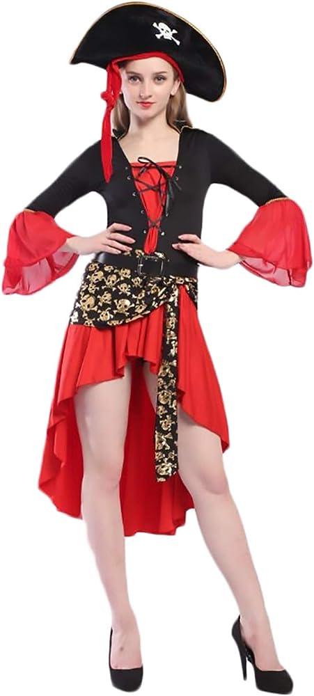 Targogo Disfraz Pirata Disfraces Mujer Carnaval Irregular Vestidos ...