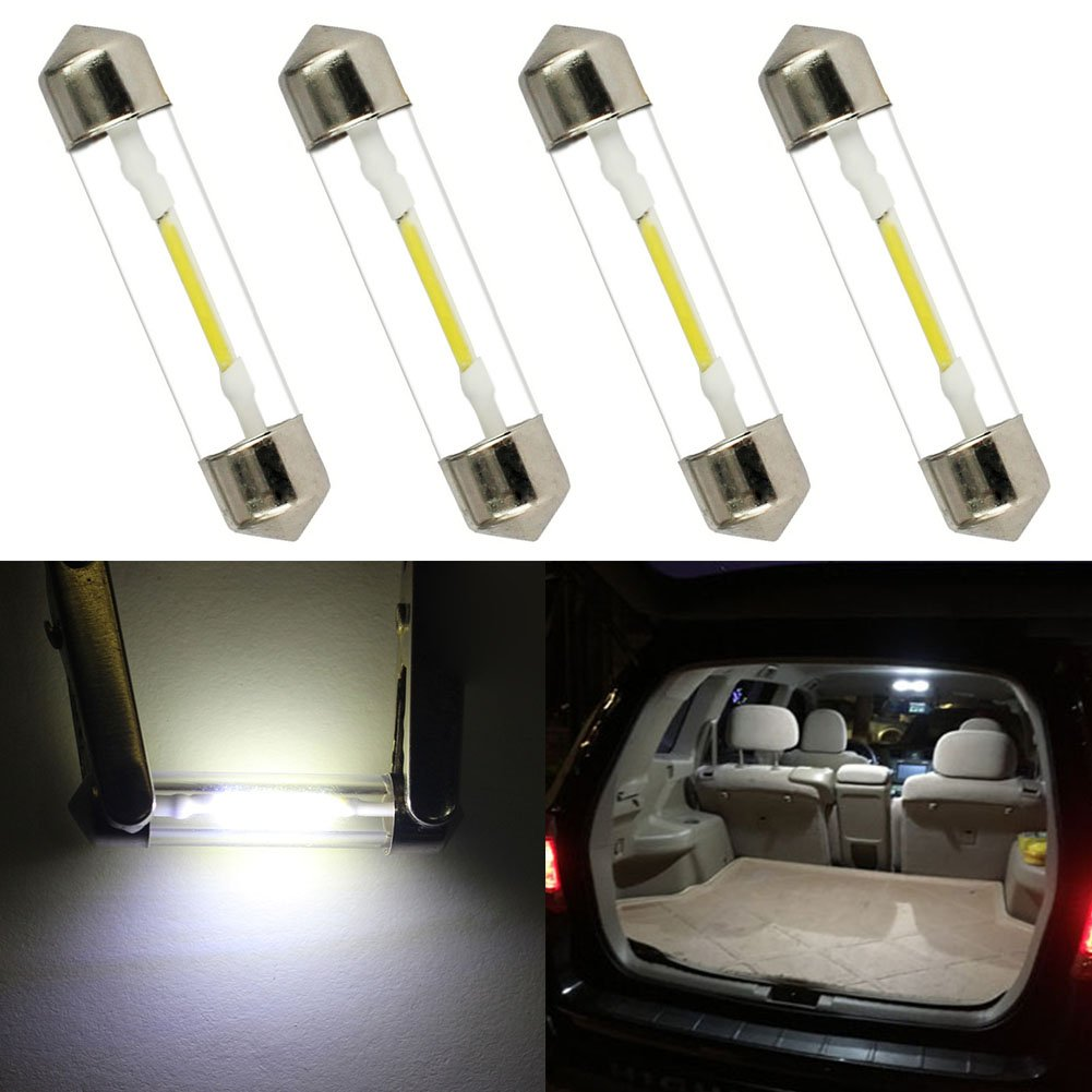 Pack de 2 taben 31/mm Festoon Bombilla LED COB chipset cristal C5/W DE3175/DE3021/DE3022/3175/C/úpula mapa tronco coche LED luz de lectura bombillas