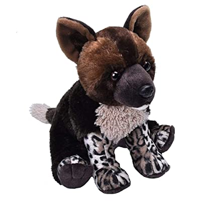 Wild Republic African Wild Dog, Cuddlekins, Stuffed Animal, 12 inches, Gift for Kids, Plush Toy, Fill is Spun Recycled Water Bottles: Toys & Games