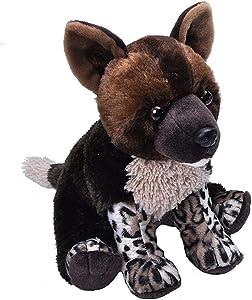 Wild Republic African Wild Dog, Cuddlekins, Stuffed Animal, 12 inches, Gift for Kids, Plush Toy, Fill is Spun Recycled Water Bottles (23435)