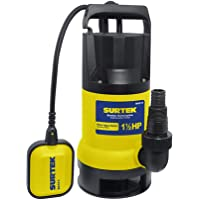 Surtek BS515 Bomba Sumergible para Agua Sucia, Potencia de 1 1/2Hp, 5,7 kg