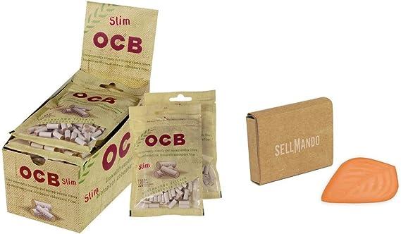 10x Ocb Organic Slimfilter 6 Mm Tabak Feuchthalter Küche Haushalt