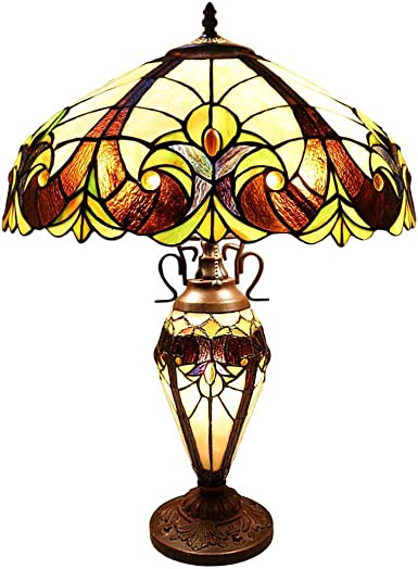 Chloe Lighting Tiffany Style Victorian Design Double Lit 2 1-light Dark Antique Bronze Table Lamp