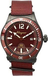Salvatore Ferragamo Wrist Watch for Men- Fabric, Red