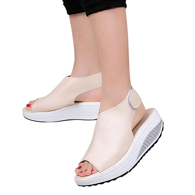 OYSOHE Mode Frauen Schuhe Sommer Sandalen Fisch Mund Dicke Untere High Heel Schuhe Wasserdichte Plattform Sandalen
