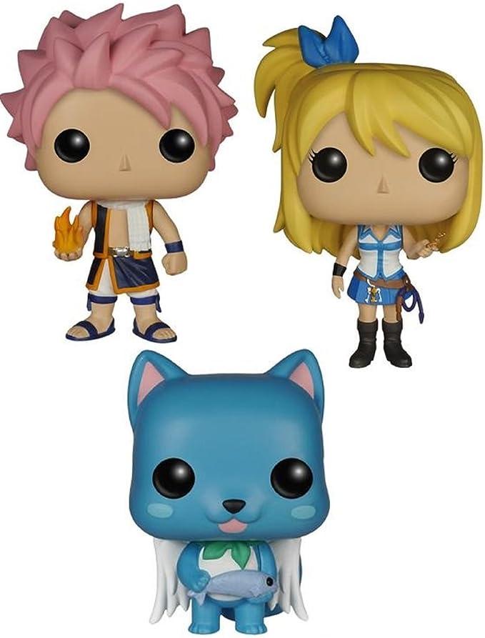 Fairy Tail Lucy, Natsu and Happy Pop! Vinyl Figures Set of 3 by Fairy Tail: Amazon.es: Juguetes y juegos