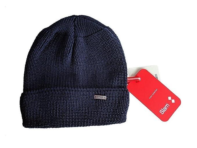 Cuffia in lana blu scuro TU NAVY - SLAM  Amazon.it  Abbigliamento 222df352cba5