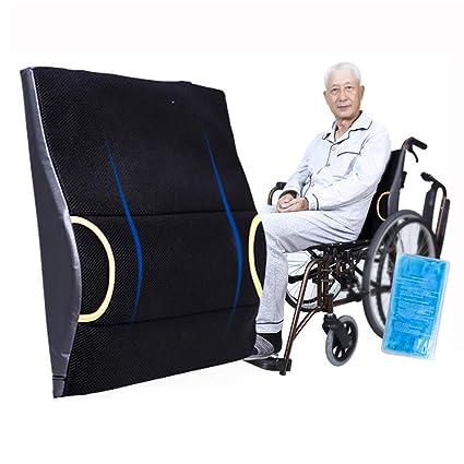 Almohada de apoyo lumbar ortopédico,cojín de espalda con espuma de memoria y gel,