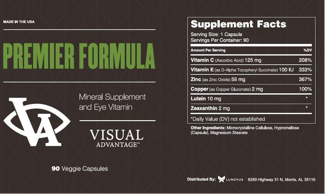 Premier Formula For Eye Health - Three Month Supply -Developed for Age Related Macular Degeneration (AMD) - Only 1 Pill Per Day by Visual Advantage