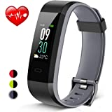 Heetik Fitness Tracker, Activity Tracker with Heart Rate/Sleep Monitor Healthy Tracker IP68 Waterproof Smart Wristband with Calorie Step Counter Color Touch Screen Watch For Women Men