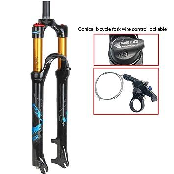 CHUDAN Horquilla de Bicicleta Control de Alambre 1-1/8