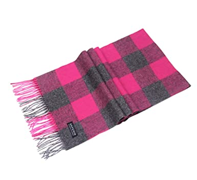 4745c970c01 Saferin Women Men Cashmere and Wool Plaid Warm Soft Scarf with Gift Box (N8-