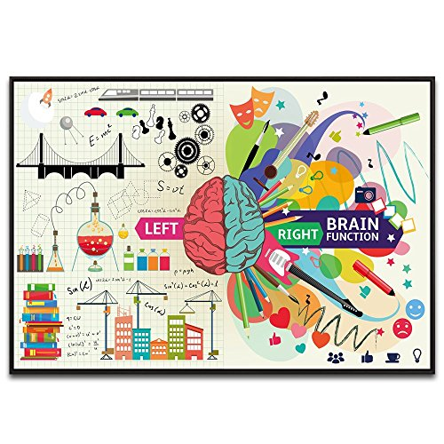 Visual Art Decor Modern Home Office Classroom Wall Decoration Left and Right Brain Function Prints Wall Art Picture Poster for Science Club Premium Kids Nursery Room Artwork (28
