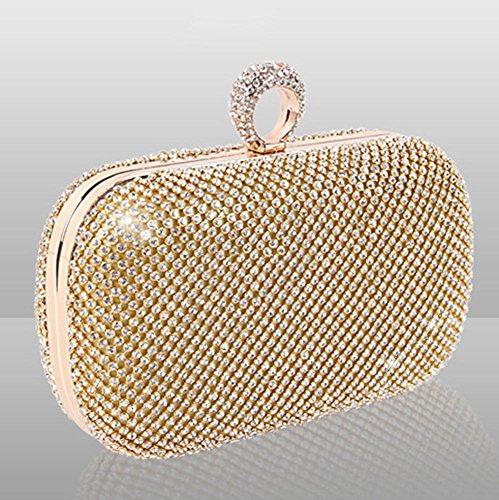diamant or argent cm mariage cristal boîte sac noir gold embrayage bourse incrusté 16 soirée de 5 x fête 13 5td5qzrwT