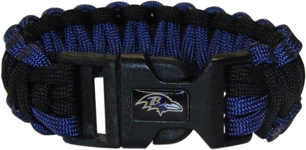 NFL Siskiyou Sports Fan Shop Baltimore Ravens Survivor Bracelet One Size Team Color