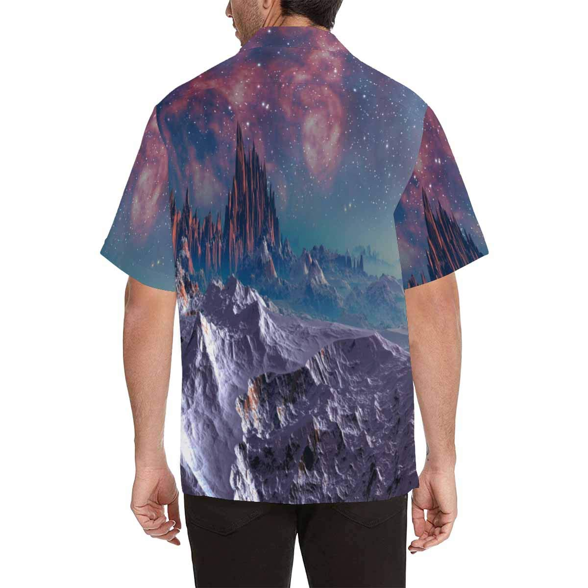 InterestPrint Mens Alien Planet Tees Tops T-Shirts