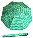 SueSport Sand Anchor 7 feet Beach Umbrella with Tilt and Telescoping Pole