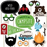 Happy Camper - Photo Booth Props Kit - 20 Count