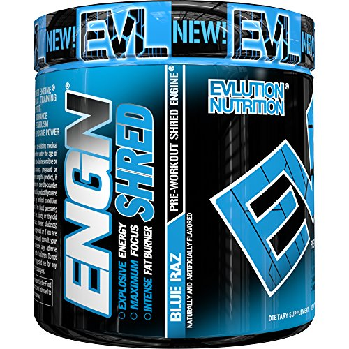 Maximum Thermogenic Fat Burner (Evlution Nutrition ENGN SHRED Pre workout Thermogenic Fat Burner Powder, Energy, Weight loss, 30 Servings (Blue)