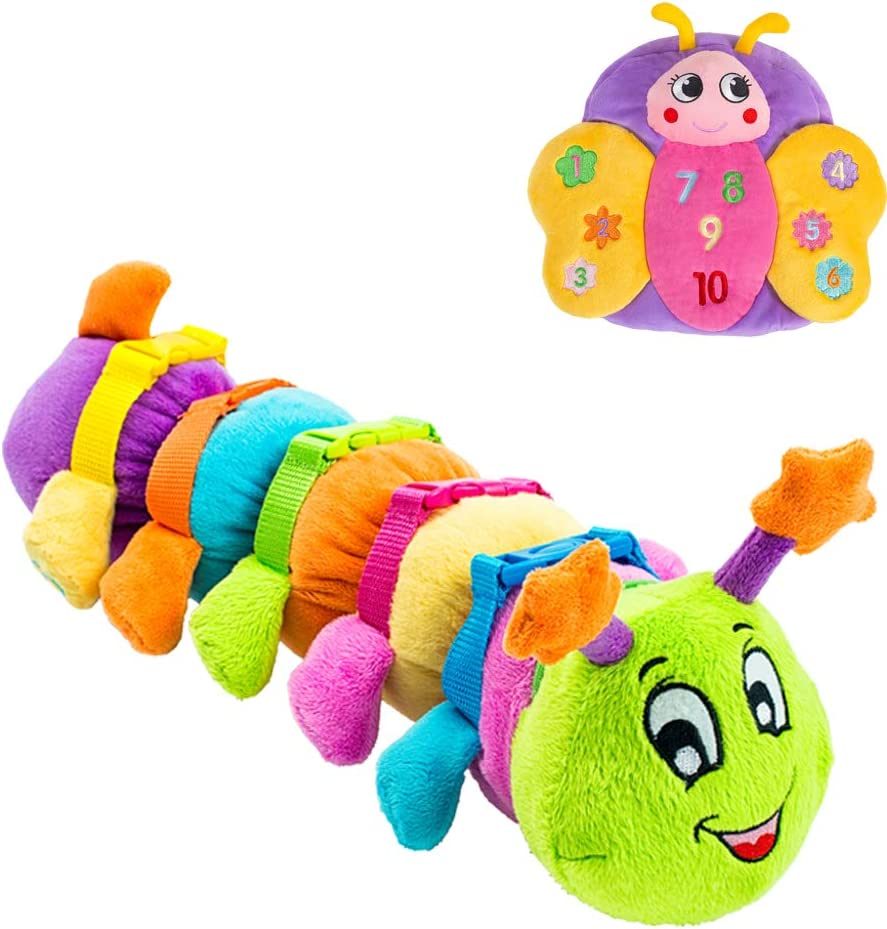 Buckle Toy - Blossom Butterfly and Bentley Caterpillar Bug Buddies Bundle