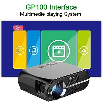 NewPal GP100 Proyector 3500lúmenes Proyector LED Proyector de Cine ...