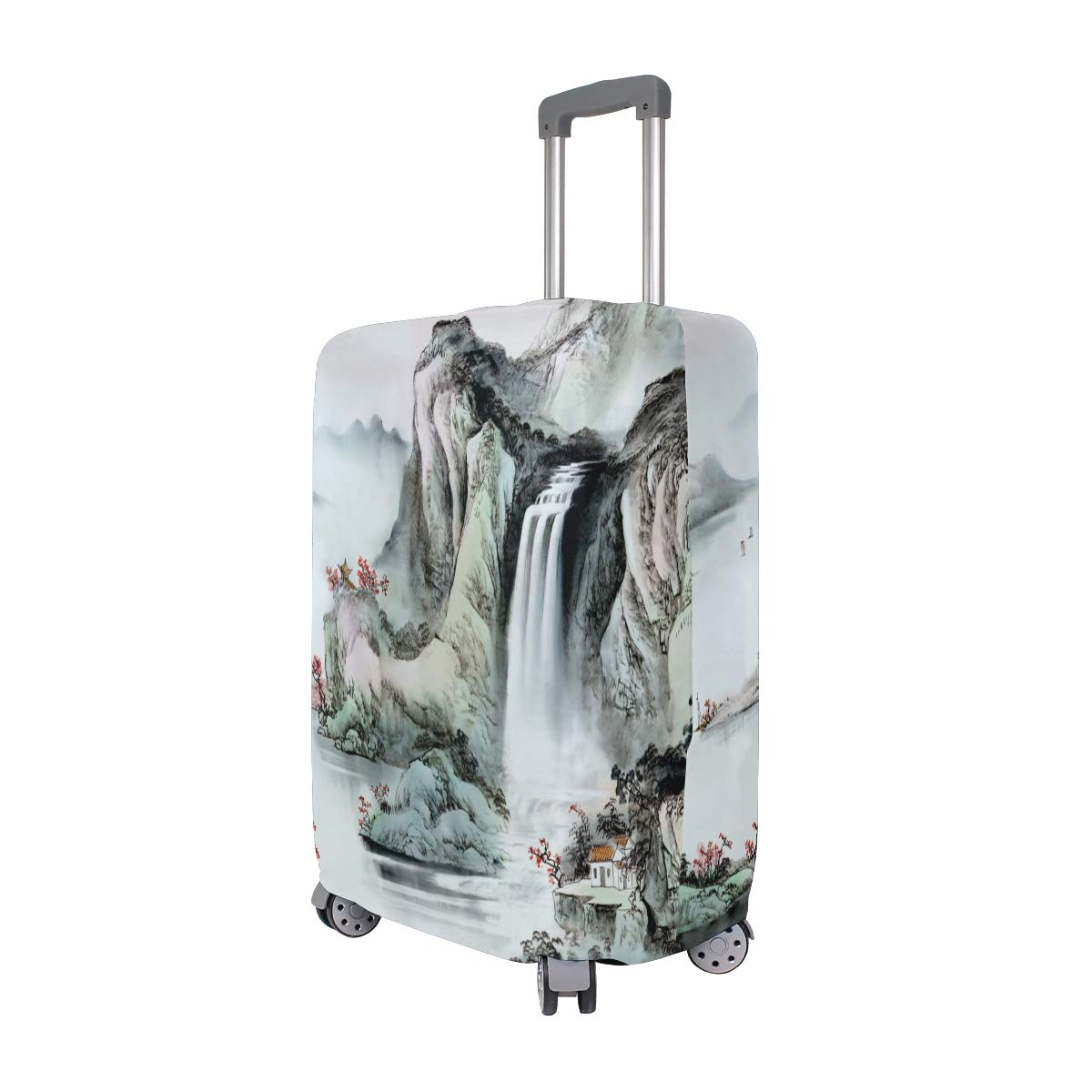 Chinese Landscape Painting suitcase cover elastic suitcase cover zipper luggage case removable cleaning suitable for 29-32 trunk cover
