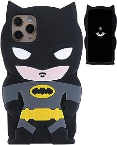 "Kim Kylin iPhone 11 Silicone Case,Cute 3D Cartoon Funny Kawaii Soft Silicone Fashion Bat Hero Stylish Design Skin Cover Cases for Guys Girls Teens Kids iPhone 11 6.1"""