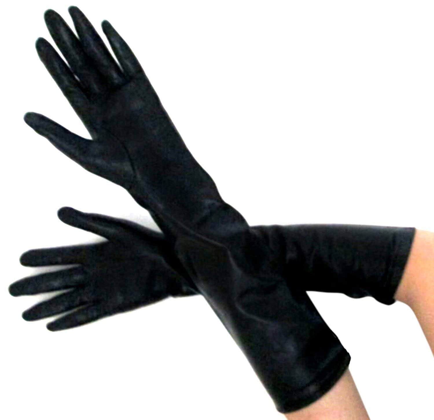 2f93fe8aa9054 FOWNES Women's Silk Lined Metisse Lambskin Leather Elbow Length Gloves at Amazon  Women's Clothing store: