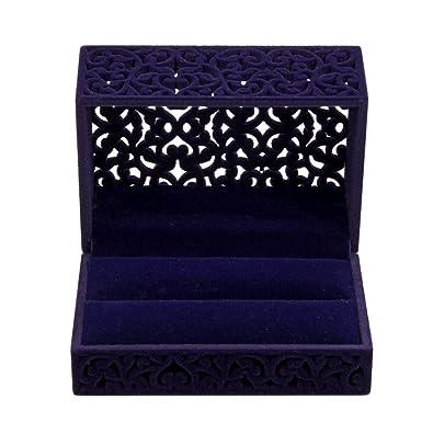 Gossipboy Caja de Regalo Hollow Sapphire Blue Wedding Ring ...