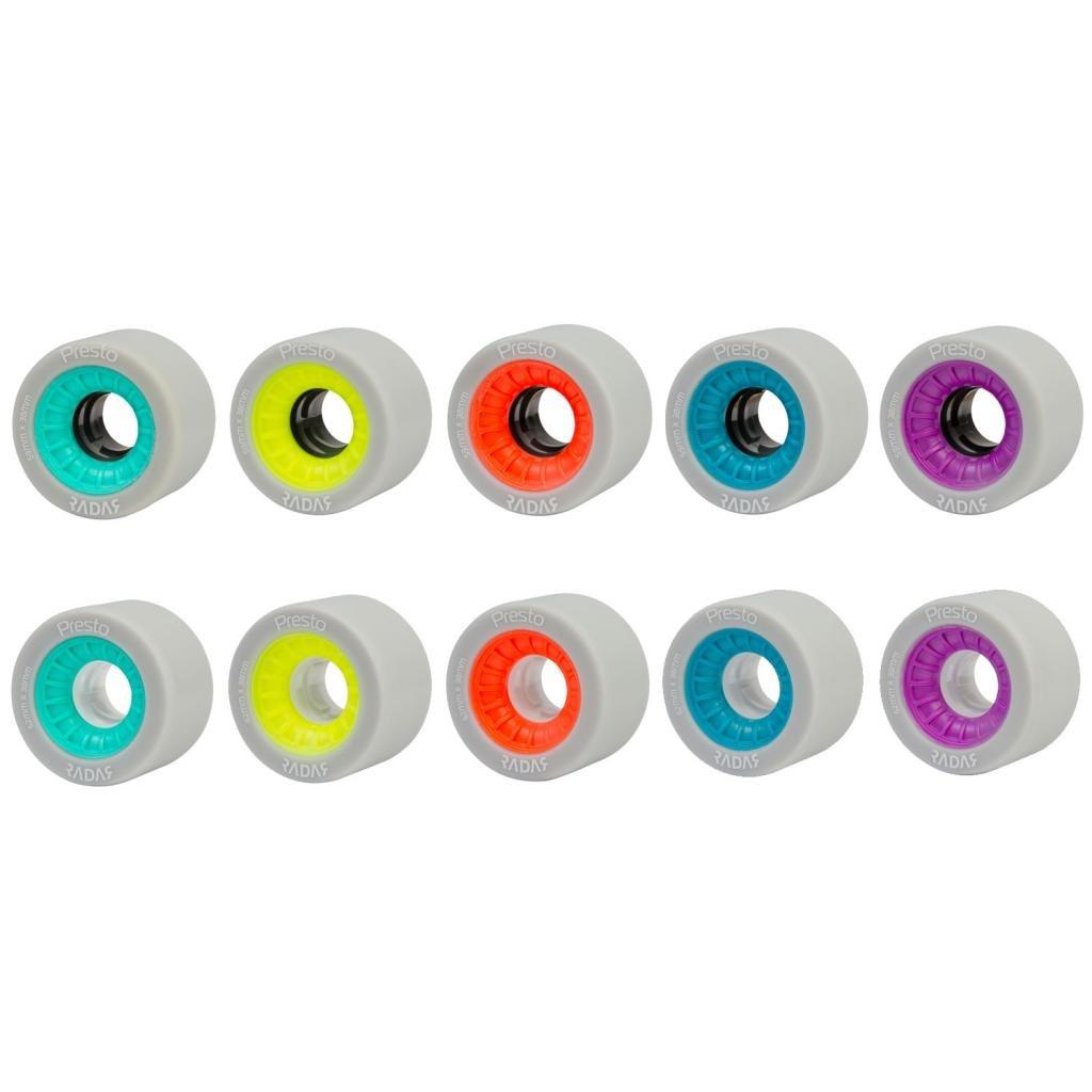 Radar Presto Indoor Roller Derby Skate Wheels - Presto Speed Skate Wheels (blue, 62mm, 8pk) by Radar