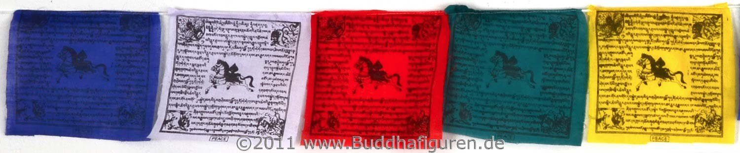 BUDDHAFIGUREN Tibetan Buddhist Prayer 10 Flags for Peace, Prosperity and Wisdom 1,6 m length Cotton BUDDHAFIGUREN/Billy Held